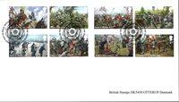 Storbritanien - Rosekrigene - Stemplet sæt 8v opklæbet