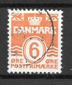 Danmark - AFA 254x - Stemplet
