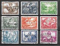 Tyske Rige 1933 - AFA 494-502 - Stemplet