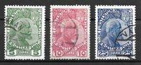 Liechtenstein 1912 - AFA 1a+2a+3a - Stemplet