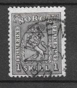 Norja 1867 - AFA 11 - Leimattu