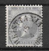 Norja 1856 - AFA 3 - Leimattu