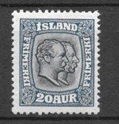Islanti 1915 - AFA 82 - Kättämämälät Liimakkeella