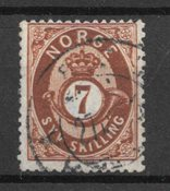 Norge 1872 - AFA 21 - Stemplet