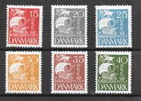 Danmark 1927 - AFA 169 - 174 - Postfrisk