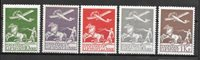 Danmark 1925 - AFA 144-46, 181-82 - Ubrugt