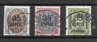 Danimarca 1912 - AFA 60 -62 - timbrato