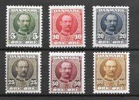 Danmark 1907 - AFA 54-59 - Ubrugt