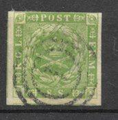 Danmark 1854 - AFA 5 - Stemplet