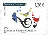 Andorra Francesa - Himno Nacional - Sello nuevo