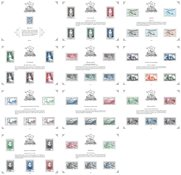 Frankrig - Fransk filatelistisk kulturarv 2020 - Postfrisk sæt á 11 postfriske miniark