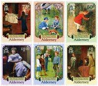 Alderney - Den hemmelige have - Postfrisk sæt 6v