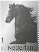 Países Bajos - Sello de plata / Razas de caballos - Sello plata nuevo