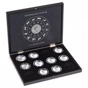 Presentation case for 12 Lunar 3 silver coins (1 oz.) in capsules, black