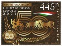 Hungría - Campeoneto europeo de carruajes de caballos - Sello nuevo