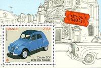 Francia - Citroën 2 CV - Hoja bloque nuevo