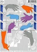 Holland - Håndens sprog - Postfrisk ark