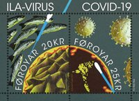 Islas Feroe - ILA-Virus / Covid-19 en las Feroes - Hoja bloque nuevo