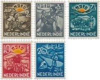 Nederland - A.S.I.B. -zegels 1937 (nr. 230-234, postfris)