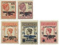 Nederland Indië - Zwarte opdruk 1928 (LP1-LP5, postfrisk)