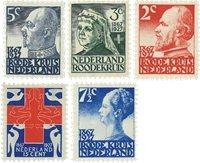 Holland 1927 - NVPH 203-207 - Ubrugt