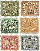 Curacao - Cijfer 1902-1908 (nr. 29-34, ongebruikt)