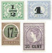 Nederland Indië - Nooduitgifte 1917-1918 (nr. 138-141, postfrisk)