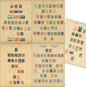 Luxemburg 1852-1940 - Samling på fortryksblade