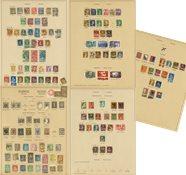 Schweiz 1850-1945 - Samling på fortryksblade