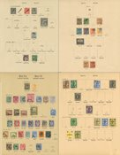 Malta 1860-1937 - Samling på fortryksblade