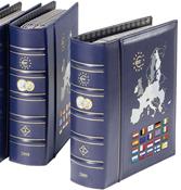 VISTA album euros millésimes 2012, avec étui de protection, bleu