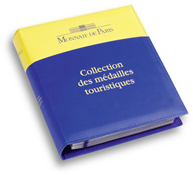 Album de monnaie, design classique *Collection des  médailles touristiques*