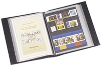 Album pour notices premier jour avec 50 Pochettes transparentes, bleu