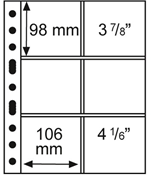 A4 lommer grande 3/2 klar - pakke med 5 stk.