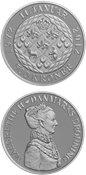 Danmark 2012 - Dronning  Margrethe II's 40 års regeringsjubilæum - 500 kr. sølvmønt