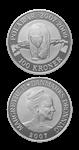 100 DKK silver coin Polar Year