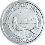 丹麦 美人鱼 10克郎银币