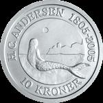 Danmark - Den Lille havfrue - 10 kr. Sølvmønt