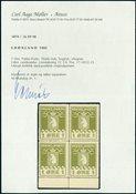 Groenland colis postaux bloc de 4