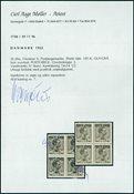 Danemark - Postfaerge 50 øre bloc de 4 neuf