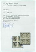 Danmark Postfærge 50 øre 4-blok postfrisk