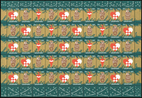 Denmark - Christmas sheet 1956