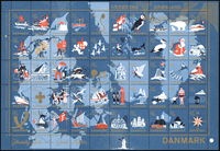 Denmark - Christmas sheet 1959