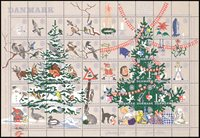 Danemark - Feuille Noël 1961