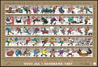 Danmark Julemærkeark 1987