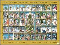 Danemark - Feuille Noël 1993