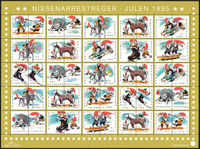 Denmark - Christmas seals sheet 1995