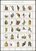 Îles Féroé Vignettes Noël 97 Outils et jouets