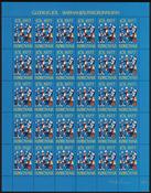 Îles Féroé - Feuille de vignettes de Noël 1977