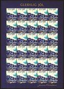 VIGN. DE NOEL ILES FE. 1985 Ville en lueur d'aurore polair